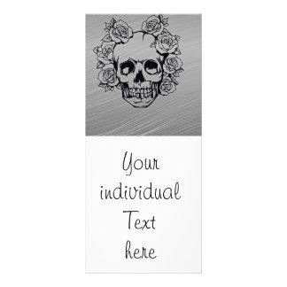 skull with roses full colour rack card