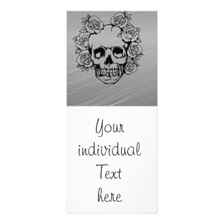 skull with roses customized rack card