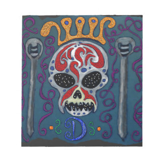 Skull with rown and Swords Notepad