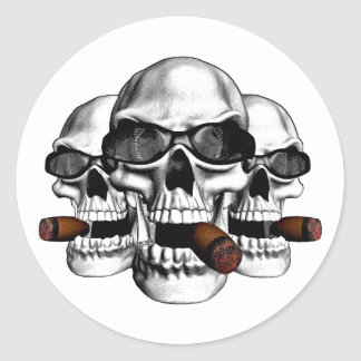 Skull with Shades Stickers