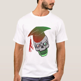 Skull with  Square Academic Cap T-Shirt