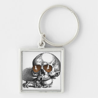 SKULL WITH SUNGLASSES AND WOMEN PRINT KEY CHAINS