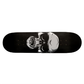 Skull With Sunglasses on Black Skateboard