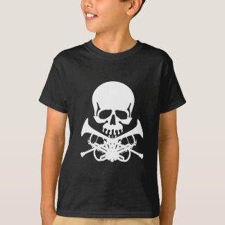 Skull with Trumpets as Crossbones T-Shirt