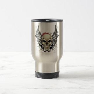 Skull with Wings and Guitars Mug