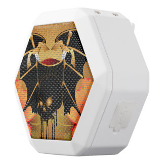 Skull with wings white boombot rex bluetooth speaker