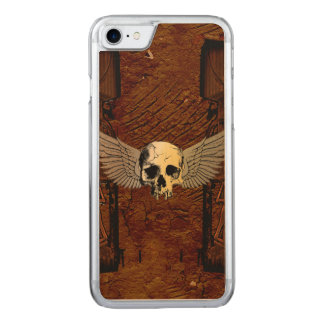 Skull with wings carved iPhone 7 case