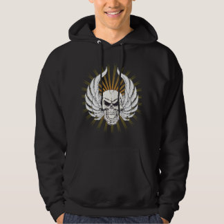 Skull with Wings Hoodie
