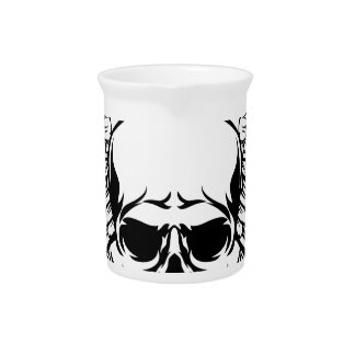Skull with Wings Pitcher