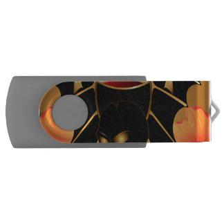 Skull with wings swivel USB 2.0 flash drive
