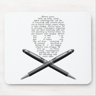 Skull Writer Mouse Pad