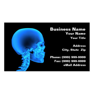 Skull X-Ray Business Card Template