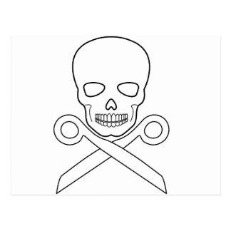 Skull-X-Scissors Post Cards