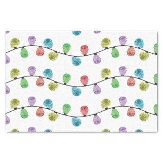 Skull Xmas Lights tissue paper