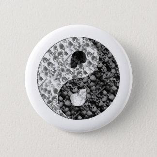 Skull Yin Yang 6 Cm Round Badge