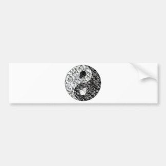 Skull Yin Yang Bumper Sticker