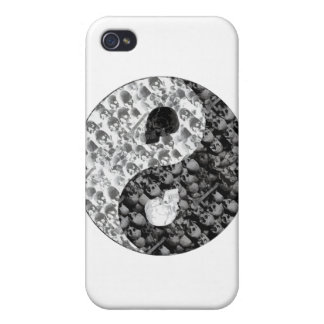 Skull Yin Yang iPhone 4/4S Cover