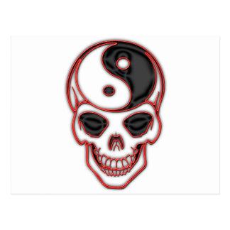 Skull Yin Yang Post Cards