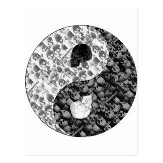 Skull Yin Yang Postcard