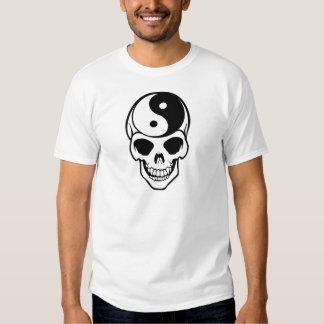 Skull Ying Yang T Shirts