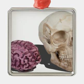SkullandBrains103013.png Christmas Ornament