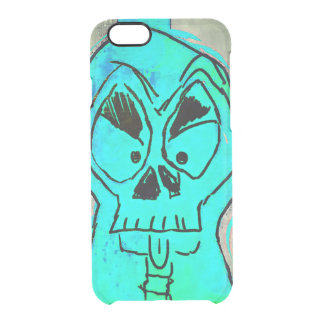 Skullblue Iphone marries Clear iPhone 6/6S Case
