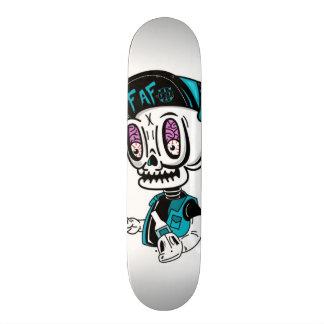 Skullbrains White Deck Skate Board