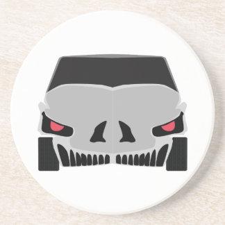 Skulled car design coasters