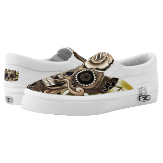 Skulled Up Custom Zipz Slip On Shoes