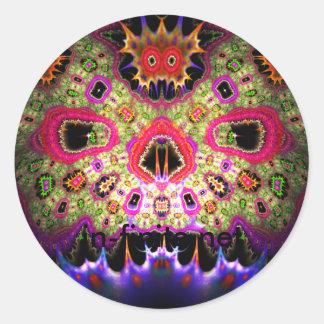SkullFace Round Sticker