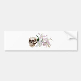 SkullFlowers051409 Bumper Sticker
