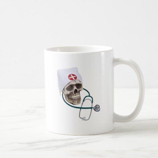 SkullNurse082309 Basic White Mug