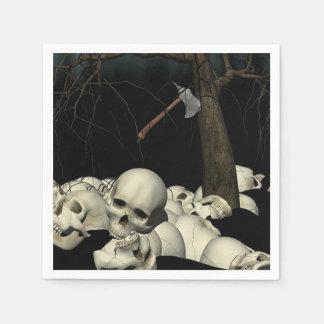 Skulls and Axe Paper Napkin