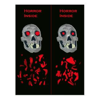 Skulls and Blood Bookmark Postcard