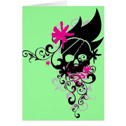 Skulls-and-Curls Card