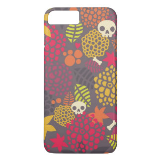 Skulls and flowers. iPhone 8 plus/7 plus case