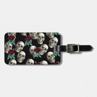 Skulls and Flowers Luggage Tag