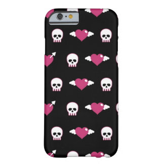 Skulls and hearts barely there iPhone 6 case