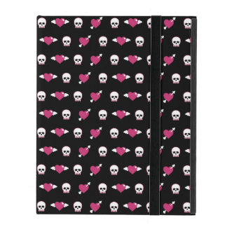 Skulls and hearts iPad cover