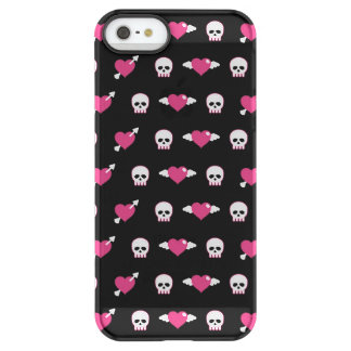 Skulls and hearts permafrost® iPhone SE/5/5s case