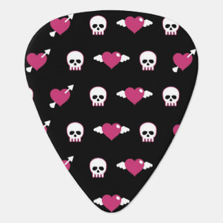 Skulls and hearts plectrum