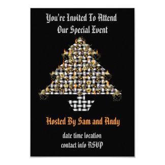 "Skulls and Metal Tree 3.5"" X 5"" Invitation Card"