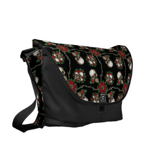 Skulls and Roses Commuter Bag