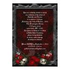 Skulls and Roses Goth Wedding Invitation