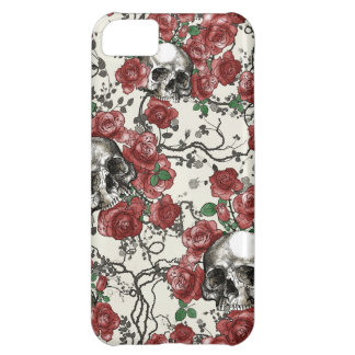 Skulls and Roses Pattern iPhone 5C Case