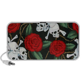 skulls and roses laptop speaker