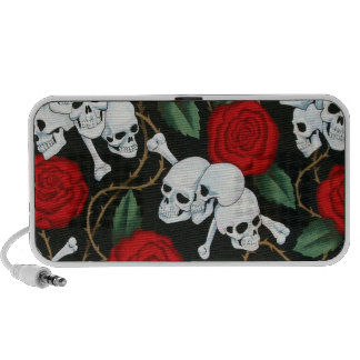 skulls and roses iPhone speaker