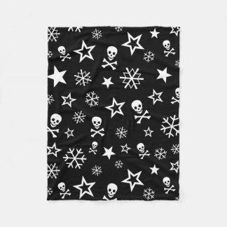 Skulls and Snowflakes Fleece Blanket