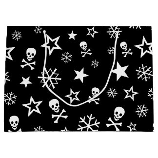 Skulls and Snowflakes Large Gift Bag