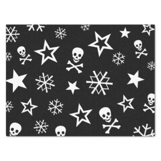 Skulls and Snowflakes Tissue Paper